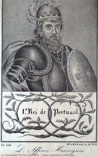 Afonso Henriques (gravura da Col. da Sociedade Martins Sarmento)
