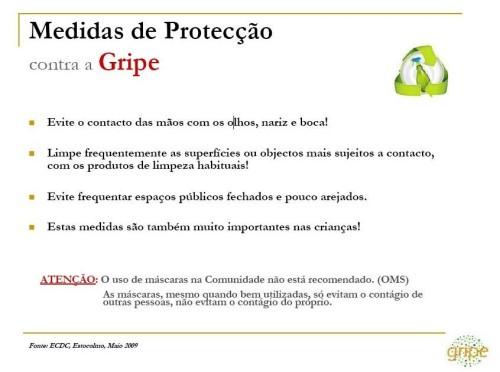 Medidas de pretecção contra a Gripe2